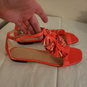 Nwot J. Crew Leather Ankle Strap Sandals size 9.5